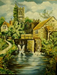 Old English Mill antique reproduction oil painting Original Paintings For Sale, Old English, Windmill, Art For Sale, Sale Items, Jigsaw Puzzles, Art Themes, Oil, Antiques