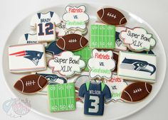 Super Bowl cookies by The Pink Mixing Bowl!
