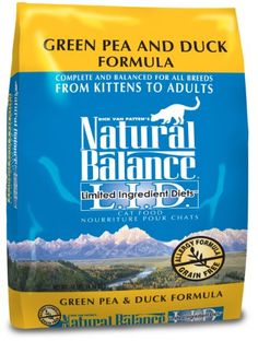 Your cat will love Natural Balance Dry Cat Food, Limited Ingredient Diet Green Pea and Duck Formula, 10 Pound Bag available at PetSuperSource.com, your #1 Online Store for Pet Supplies