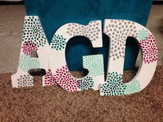 I'm going to be doing this but with our letters for my personal room, but in pink/white/gold, so that we can use them for this event like we're using faith's for another round :)