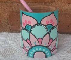 Painted Flower Pots, Mandala Design, Cool Stuff, Crafts, Diy, Painting, Gardens, Decorative Vases, Easy Crafts