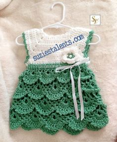 Crochet Baby Dress REVISED PATTERN PT071 Crochet Baby Dress Baby by PatternsDes...