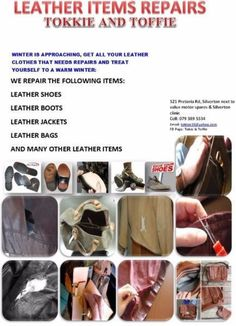 Lady bags, man bags, wallet and purse, luggage and cases, laptop bags, cosmetic bags, cooler bags, backpacks, waist bag, clutch bag, school bags, card holders, key holders, coin purse ,passport holders, cell phone tablet holders, straw bags, beach bags, evening bags, money clip etc   521 Pretoria road Silver-ton next to value motor spares .Tokkie