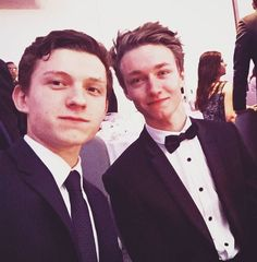 Tom Holland and Haz Osterfield