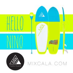 "[ HELLO NINO ] MixCaLa Niño 8' SUP Paddleboard is painted in a teal blue, lime green duotone and finished with a glass-like varnish. Only weight 15 lbs. We use 100% real bamboo so one can enjoy the flexibility while surfing without sacrificing the durability. Get the high quality bamboo SUP Paddleboard with style. Check out more color combination & matching Paddles. What's Your CALA?  Mix Your Own ""CaLa"" only at MIXCALA.COM #SUP #Paddleboard #SUPfitness #SUPyoga #Yoga #Fitness #outdoor #fun"