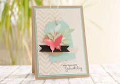 Geburtstagskarte Stampin Up Box Birthday Card Chevron 003