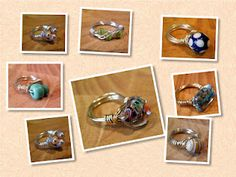Bead and wire rings by valitasfreshfolds.blogspot