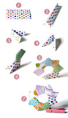 origami para la navidad por el gato codicioso, a través de Flickr