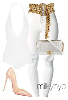 """Untitled #687"" by mizzbehave on Polyvore featuring (+) PEOPLE, Givenchy, Chanel and Christian Louboutin"
