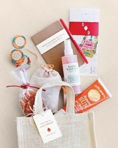 Vegas Wedding Gift Bag Ideas : Welcome Bags on Pinterest Welcome Gifts, Welcome Baskets and Wedding ...