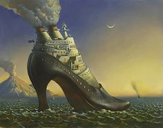 Nr. 7  - Full Steam Ahead (This shoe has been made into a sculpture by Vladimir Kush)