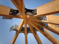Rafter brackets... maybe we could use these to build the hexagon pergola/arbor