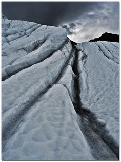 Glacier in Wrangel St Elias National Park in Alaska