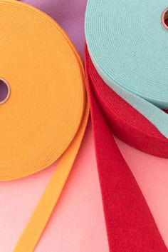 Thermoformable Wool Felt Ribbons. Many colors many creative opportunities:  http://www.dhgshop.it/dep-felt-prefelt-2mm-thermoformable-wool-felt_4_7.php
