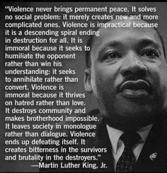 Stop the Violence, stop the Hatred ~ quote by Martin Luther King Jr.
