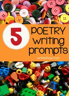 Using these poetry writing prompts, kids will create fun or silly poems that can include alliteration or rhyme.