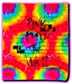 Pink Floyd The Wall Sunburst Tye-Dye Tapestry