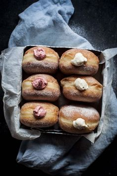 The Softest Sourdough Doughnuts - with strawberry and apple pie cream