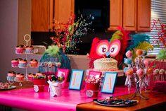 Night Owl, Pajama Party, Sleepover, Slumber Party Birthday Party Ideas | Photo 1 of 50 | Catch My Party