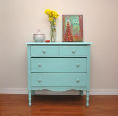 Vintage dresser by craftydill, via Flickr