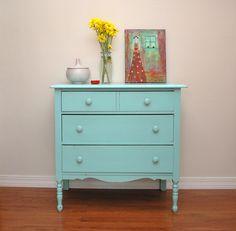 """Light blue vintage dresser.    """":O)"""