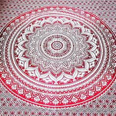 Ombre Indian Mandala Tapestry Wall Hanging Hippie Twin Bedspread Beach Throw #Handmade #BedspreadBedsheetWallHangingHomeDecor