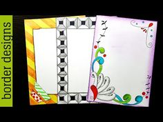 Washi tape Design draw Border designs on paper for project work by easy designs for project project designs for school -----------------------------. Boarder Designs, Page Borders Design, Border Ideas, Cover Page For Project, Drawing Borders, Front Page Design, Drawing Frames, Art Drawings, Notebook Cover Design