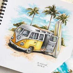 Amazing Drawings, Beautiful Drawings, Colorful Drawings, Art Drawings, Copic Marker Drawings, Peace Sign Art, Water Art, Art Station, Color Pencil Art