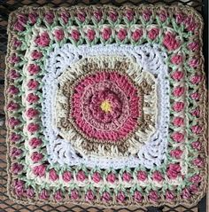 """Ravelry: Fountain of Roses 12"""" Square by Shan Sevcik"""
