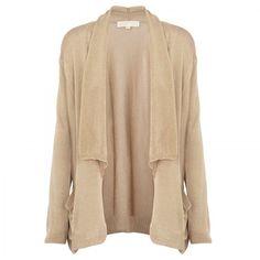 MICHAEL Michael Kors Drape knitted cardigan ($235) ❤ liked on Polyvore