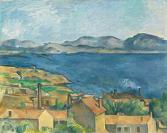 Paul Cezanne Painting - The Bay Of Marseilles Seen From L Estaque by Paul Cezanne Cezanne Art, Paul Cezanne Paintings, Oil Paintings, Landscape Paintings, Landscapes, Paul Cézanne, Claude Monet, Romance, National Gallery Of Art