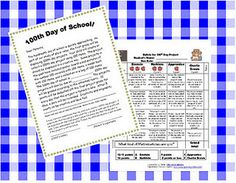 100th Day project letter and rubric - Re-pinned by @PediaStaff – Please Visit http://ht.ly/63sNt for all our pediatric therapy pins