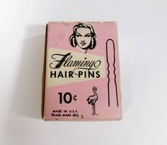 Vintage Flamingo Hair Pins  1950s Retro by UrbanRenewalDesigns, $5.00