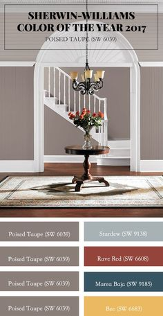 Sherwin-Williams Color of the Year 2017: Poised Taupe (SW 6039). Es clásico y moderno a la vez, el balance perfecto entre cálido y frío.