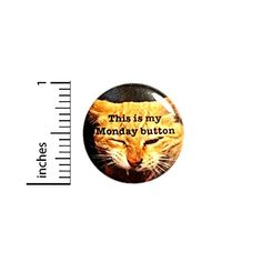 This Is My Monday Cat Button Work Humor Pin Funny 1 Inch 3-12 Outerspacebacon Monday Cat, Funny Buttons, Sarcastic Jokes, Bag Pins, Jacket Pins, Work Gifts, Work Humor, Cool Backpacks, Funny Work
