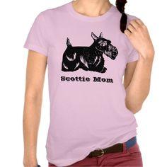 Sold! Thank you to the customer and enjoy! Scottie Dog Mom Women's T-Shirt; Abigail Davidson Art; ArtisanAbigail at Zazzle