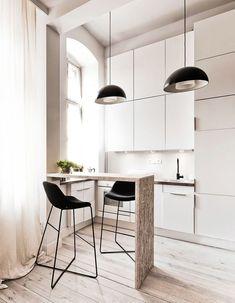 Trendy Home Improvement Ideas Apartments Apartment Inspiration, Kitchen Dining, Kitchen Decor, Studio Kitchen, Cocinas Kitchen, Outdoor Kitchen Design, Free Kitchen Design, Kitchen Fixtures, Cuisines Design
