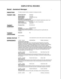 Basic Resume Examples Endearing 7 Best Basic Resume Examples Images On Pinterest  Sample Resume