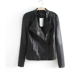 Brilliant Europe Style Casual Leather Lapel Jacket ($47) ❤ liked on Polyvore featuring outerwear, jackets, tbdress, ericdress, lapel jacket, real leather jackets, genuine leather jackets, 100 leather jacket and leather jackets