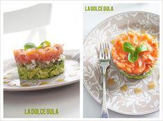 © La Dolce Gula Tartar De Salmon Y Aguacate El Asalta Blogs capitulo 5© Salmon Y Aguacate, Cantaloupe, Fruit, Recipes, Food, Bilbao, Easy Food Recipes, Seafood, Appetizers