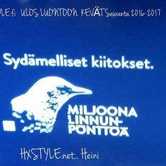 YLE. TV1... TV OHJELMAT Ulos Luotoon Kevät Seuranta 2016-2017. BLOGISS INFOA. Seuraan, Tykkään ja Viihdyn myös Seuraamassa Luontoa ja Eläimiä, Tarkkailen Ympäristöni. Suomaliset kannustettiiin rakentamaan 1 milj. Linnunpönttöä, HIENOA tavoite Täyttynyt. KAMPANJA JATKUU Toukokuun 2017 loppuun. ❤AVARA Lunto. TUEN, Kannatan ja SUOJELEN YMPÄRISTÖÄNI ja LUONTO&ELÄIMET. SUOSITTELEN Lämpimästi.Nähdään..HYMY @yleluonto @yle_areena  @luonnonsuojeluliitto #Ulosluntoon  #luonto #kevät #kevätseuranta…