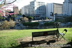 the bench at Angel's Knoll, overlooking downtown Los Angeles. 500 Days of Summer filming location.