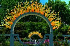 Chihuly archway Missouri Botanical Garden