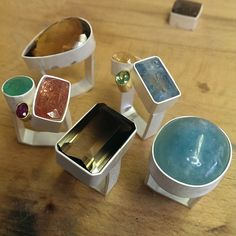 New rings ready to go for hallmarking (at Exchange place studios)