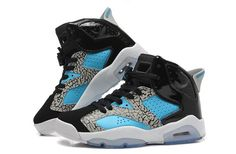 Women Air Jordan AJ6 Jordan retro 6 Basketball Shoes Leopard Black Blue only US$79.00 - follow me to pick up couopons.