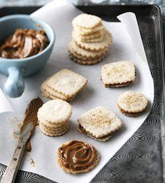 Alfajores - traditional Argentine sandwich cookies feature a creamy dulce de leche filling.