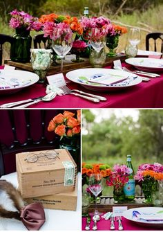 1920's WEDDING THEMED RECEPTION TABLESCAPES | The vendors that contributed to the photo shoot are as follows:
