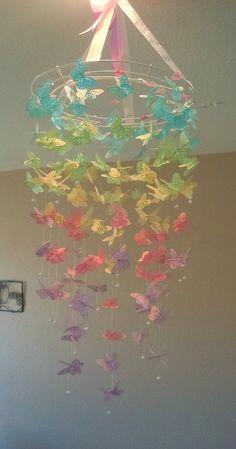 Easter Sundae - Monarch Butterfly Chandelier Mobile. $55.00, via Etsy.
