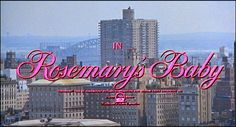Title sequence from 'Rosemary's Baby' directed by Roman Polanski, starring Mia Farrow, John Cassavetes, Ruth Gordon, Sidney Blackmer Baby Movie, Rosemary's Baby, Windows Wallpaper, Mia Farrow, Roman Polanski, Rose Marie, Opening Credits, Title Sequence, Title Card