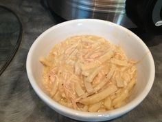 Crock-Pot Chicken and Noodles Recipe  Ingredients: 4 boneless skinless chicken breasts, 2 cans cream of chicken soup, 1 stick of butter, (2) 15 oz cans chicken broth & 24 oz. frozen egg noodles. Cook chicken, soup, butter and broth in crock-pot on low for 6-7 hours. Take chicken out and shred. Put chicken back in; add noodles and cook on low for 2 hours. Stir a few times while cooking.